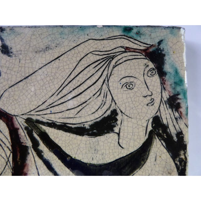 1950s Swiss Modern Pottery Wall Plaques by Philippe Lambercy - Set of 3 For Sale In Miami - Image 6 of 13