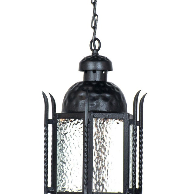 Gothic Pair of Iron Exterior Lanterns For Sale - Image 3 of 6