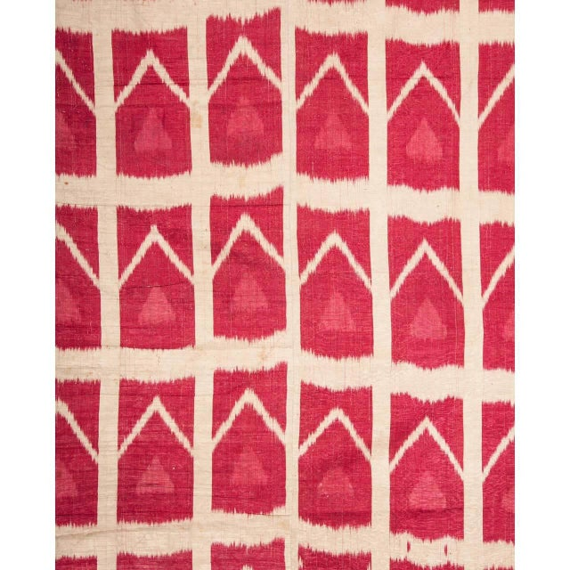 Late 19th Century 19th Century Uzbek Silk Ikat Panel For Sale - Image 5 of 6