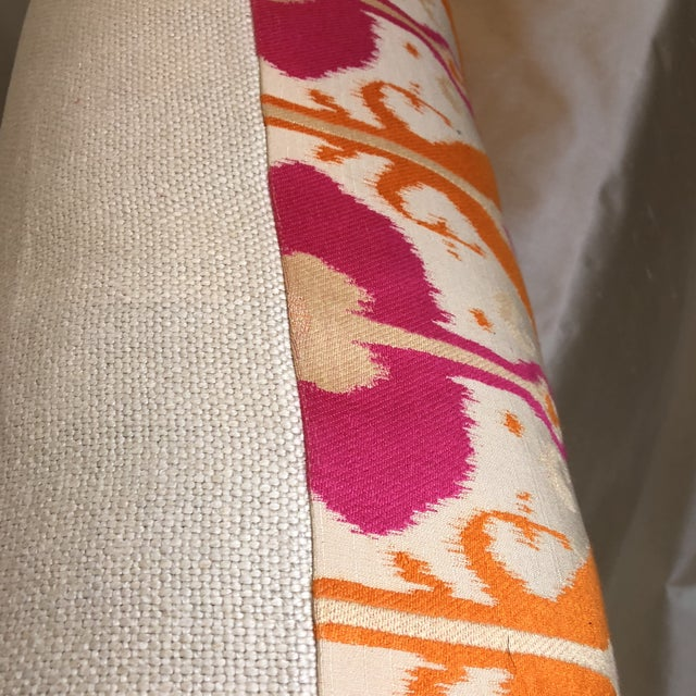 Custom Bright Ikat Pillow - Image 3 of 5