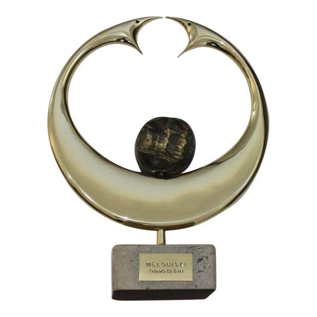 "Vintage Meloniski Bronze Sculpture ""Adamo Ed Eva"" For Sale"
