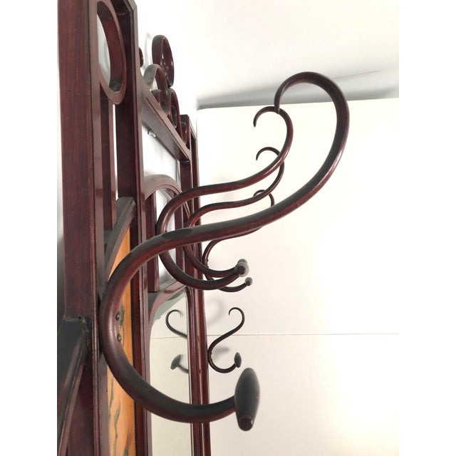 Bentwood Hall Tree With Hat and Coat Rack For Sale In Boston - Image 6 of 12