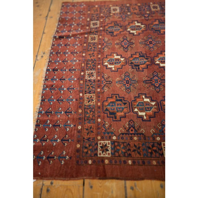 "Old New House Vintage Chodor Turkmen Rug - 3'2"" X 4'9"" For Sale - Image 4 of 11"