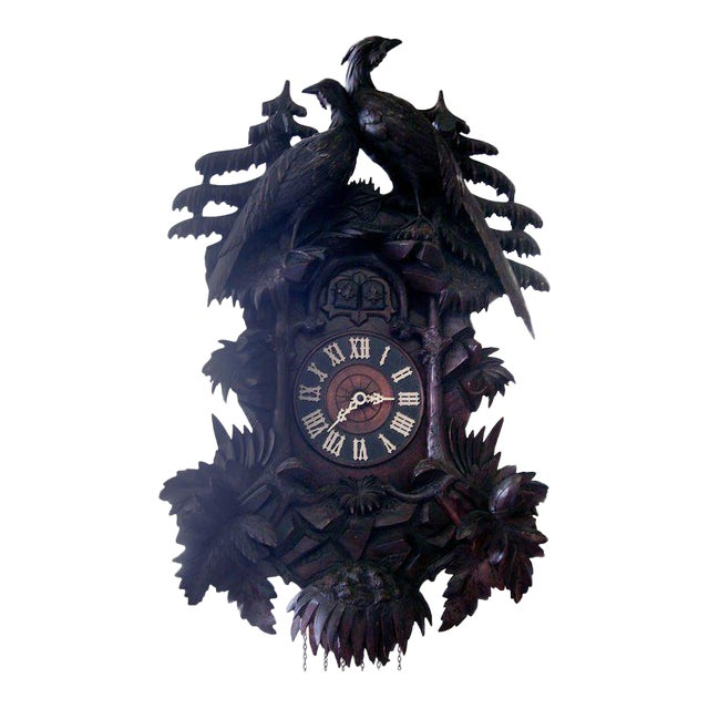 Walnut 19th Century Black Forest Cuckoo Clock For Sale - Image 7 of 7