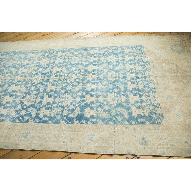 Repeating allover stylized Herati motif atop an amazing soft blue abrashed field. Colors and shades include: Sky blue,...