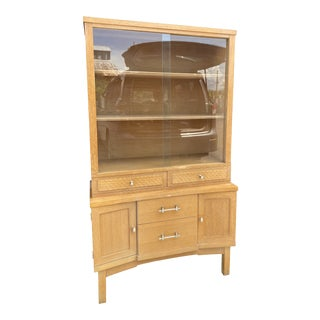 1950s Mid-Century Modern China Cabinet Bookshelves For Sale