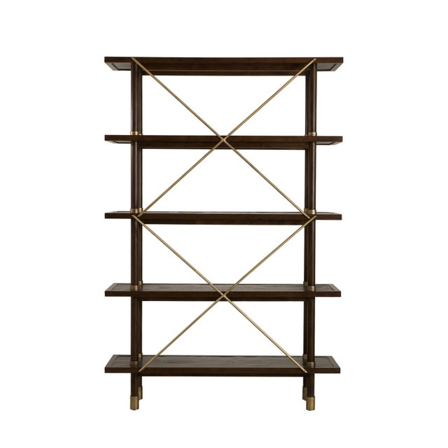 Not Yet Made - Made To Order Century Furniture Biscayne Etagere, Mink Grey Finish For Sale - Image 5 of 5
