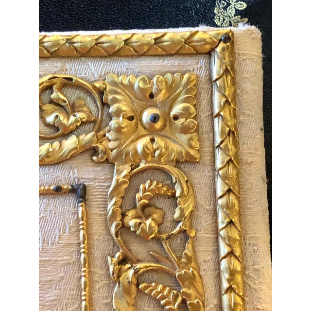 Fine Gilt Bronze and Fabric Fold Desk Blotter Possibly J Caldwell - a Pair For Sale - Image 12 of 13