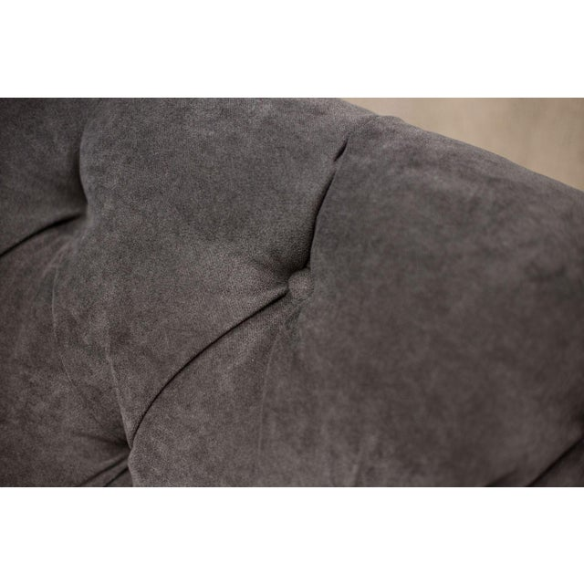 Charcoal Tufted Vintage Sofa - Image 7 of 10