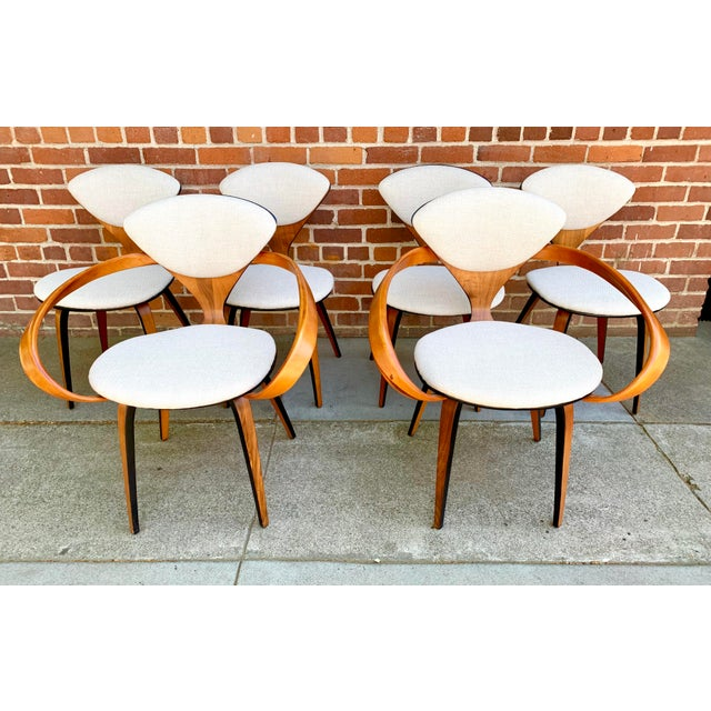 1950s Vintage Norman Cherner for Plycraft Molded Plywood Dining Chairs- Set of 6 For Sale - Image 13 of 13