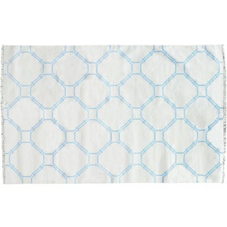 Stark Studio Rugs Contemporary Cotton Dhurries 100% Cotton Rug - 7′11″ × 10′ For Sale