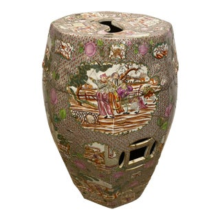 18th Century Antique Chinese Garden Stool For Sale