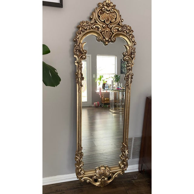 Baroque Carved Gilded Giltwood Mirror For Sale In Indianapolis - Image 6 of 6
