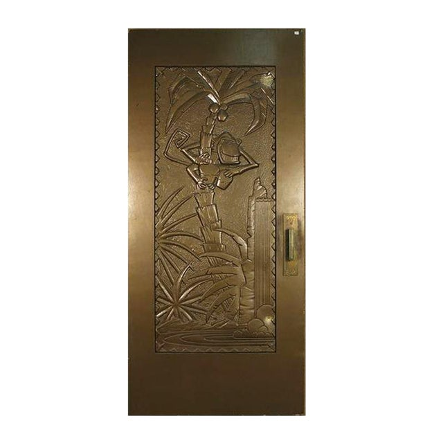 """Large 93"""" Tall Gold Coco Bongo Art Deco Prop Door From """"The Mask"""" For Sale"""