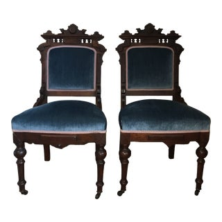 Early 20th Century Rococo Style Side Chairs- A Pair For Sale