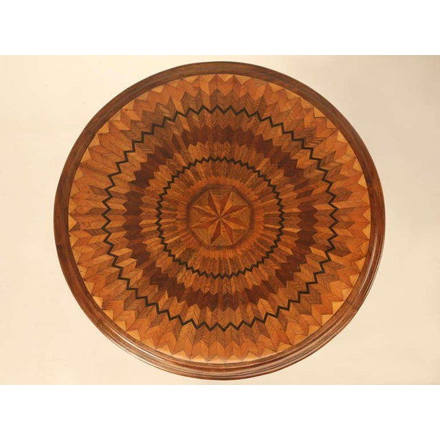 19th Century Hand Inlaid Pedestal Table For Sale - Image 10 of 10