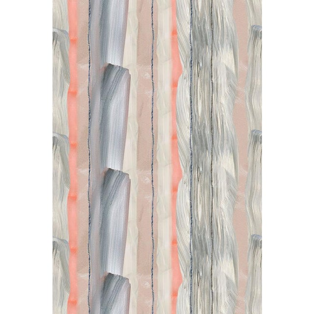 Peach Marble Stripe Wallpaper For Sale - Image 10 of 10