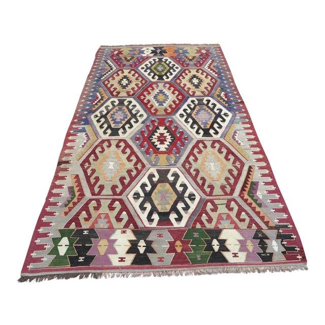 Vintage Turkish Kilim Rug - Image 1 of 9