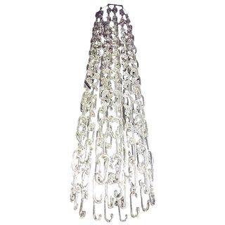 7 Ft. Chain Link Hand-Blown Murano Glass Chandelier by Gino Vistosi For Sale