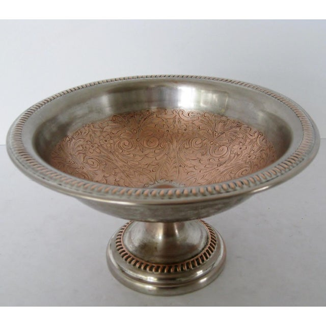 Metal Silver & Copper Decorative Coupe For Sale - Image 7 of 7
