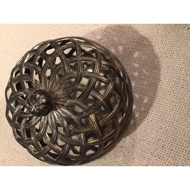 Antique Silver Caged Box - Image 4 of 7