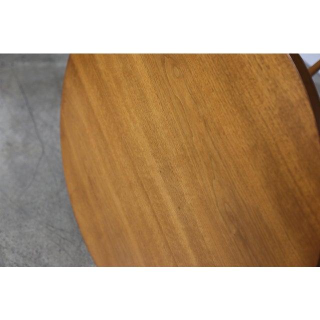 Mid 20th Century Mid-Century Modern t.h. Robsjohn-Gibbings for Widdicomb Walnut Side Table For Sale - Image 5 of 8