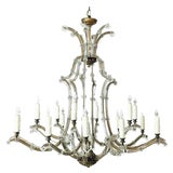 Image of Maria Theresa Gold and Silver Crystal Chandelier For Sale