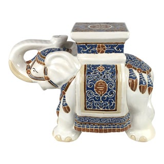 Ceramic Elephant Garden Stool / Side Table