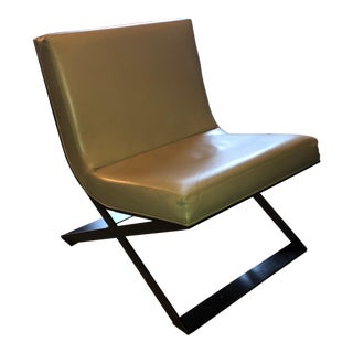 Ralph Pucci Bauhaus Cappuccino Leather Chair For Sale