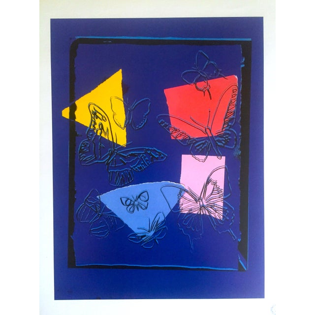 """Andy Warhol Estate Rare Vintage 1991 Collector's Pop Art Lithograph Print """" Butterflies - Vanishing Animals """" 1986 For Sale In Kansas City - Image 6 of 7"""