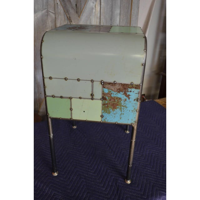 Locally-Sourced Reclaimed Steel Bedside Table - Image 6 of 10