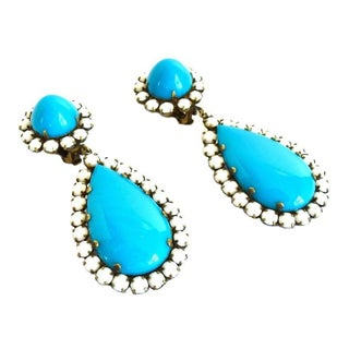Kenneth Jay Lane KJL Vintage Drop Earrings