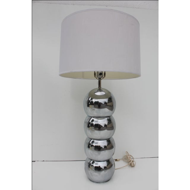 Vintage stacking chrome ball table lamp by George Kovacs. Very good condition. The bottom ball does show some wear on the...
