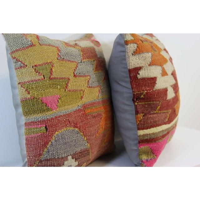 Turkish Kilim Pillow - A Pair - Image 7 of 7