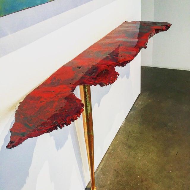 Live Edge Burl Side Table - Image 2 of 4