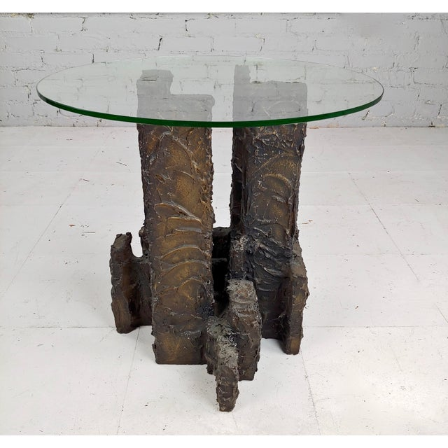 Brutalist Adrian Pearsall Brutalist Small Coffee or Side Table For Sale - Image 3 of 10