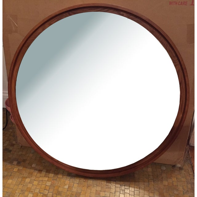 West Elm Floating Round Mirror - Image 2 of 3