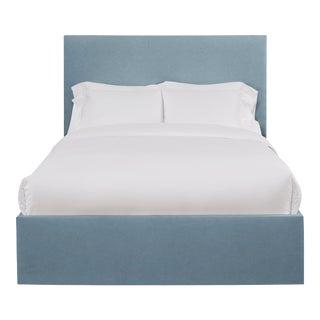 Hadley California King Bedframe, Blue Velvet For Sale