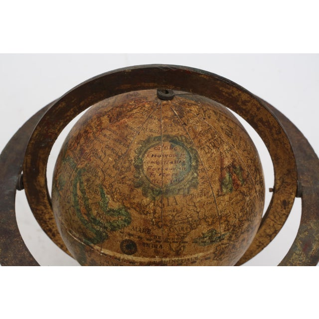 Brass Italian Mini Old World Globe with Brass stand For Sale - Image 7 of 10