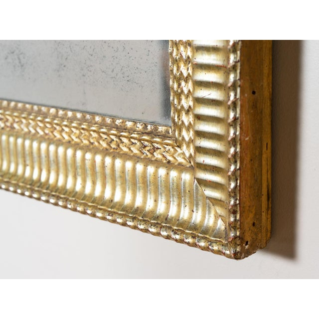 French Antique Water Gilded Mirror For Sale - Image 3 of 6