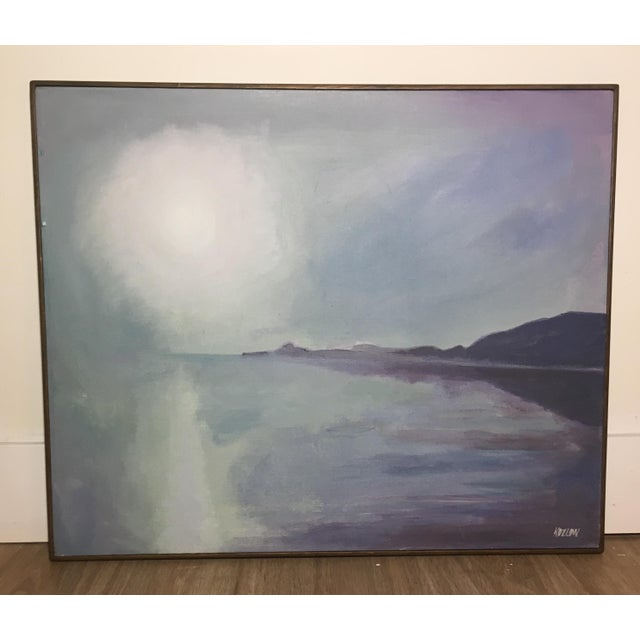 Canvas Sun Over Water An Oil on Canvas Painting by Koslow For Sale - Image 7 of 8