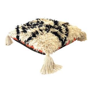 Vintage Moroccan Shag Rug Pouf