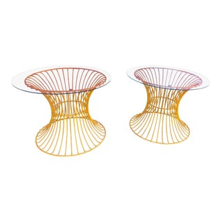 1960s Mid Century Warren Platner Style Side Tables - a Pair For Sale