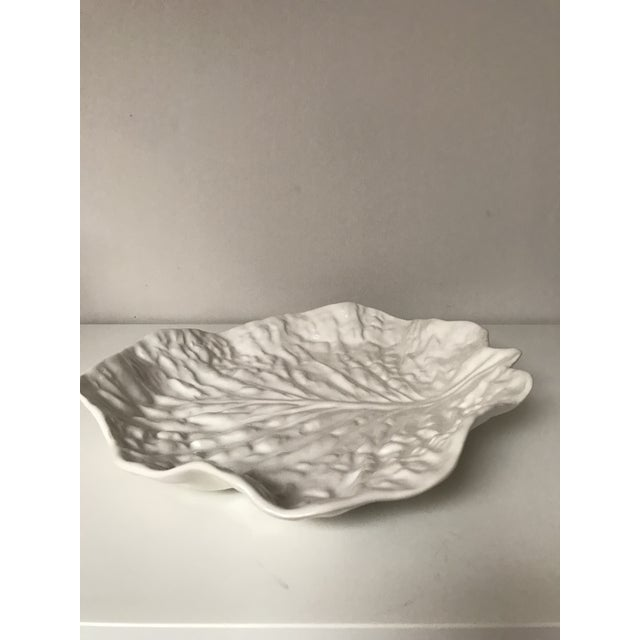 Mediterranean White Secla Serving Platter For Sale - Image 3 of 5