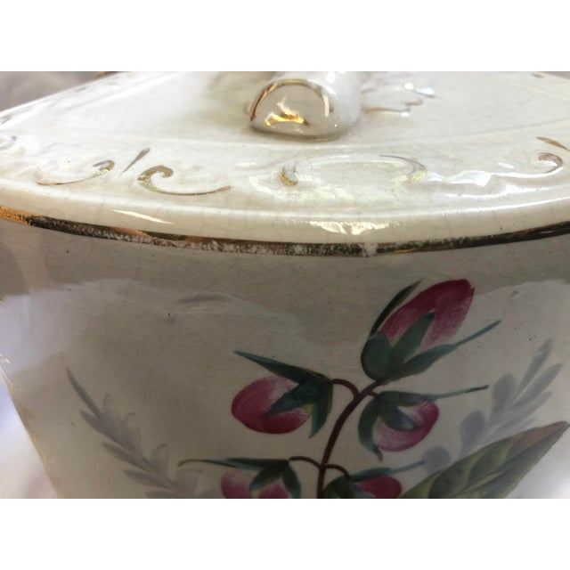 Antique Porcelain Covered Cheese Keep For Sale - Image 10 of 12