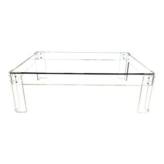 Wisteria Glass Top & Acrylic Legs Coffee Table