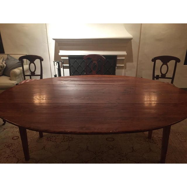 Antique Wood Drop Leaf Dining Table Chairish