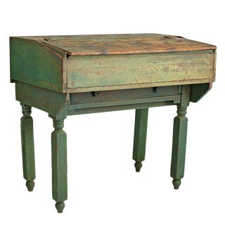 Rustic Foreman's Desk from Kentucky Circa 1910s