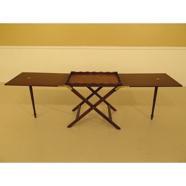 Traditional Baker Mahogany Serving Tray Table For Sale - Image 3 of 13