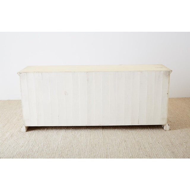 Country Italian Painted Four-Drawer Commode or Sideboard For Sale - Image 12 of 13